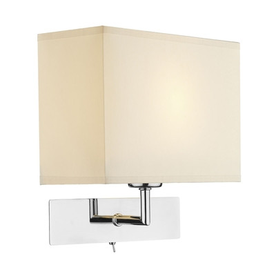 Square Wall Light with Cotton Shade