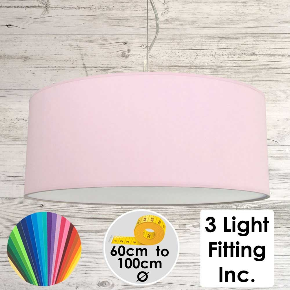 Pale Violet Drum Ceiling Light