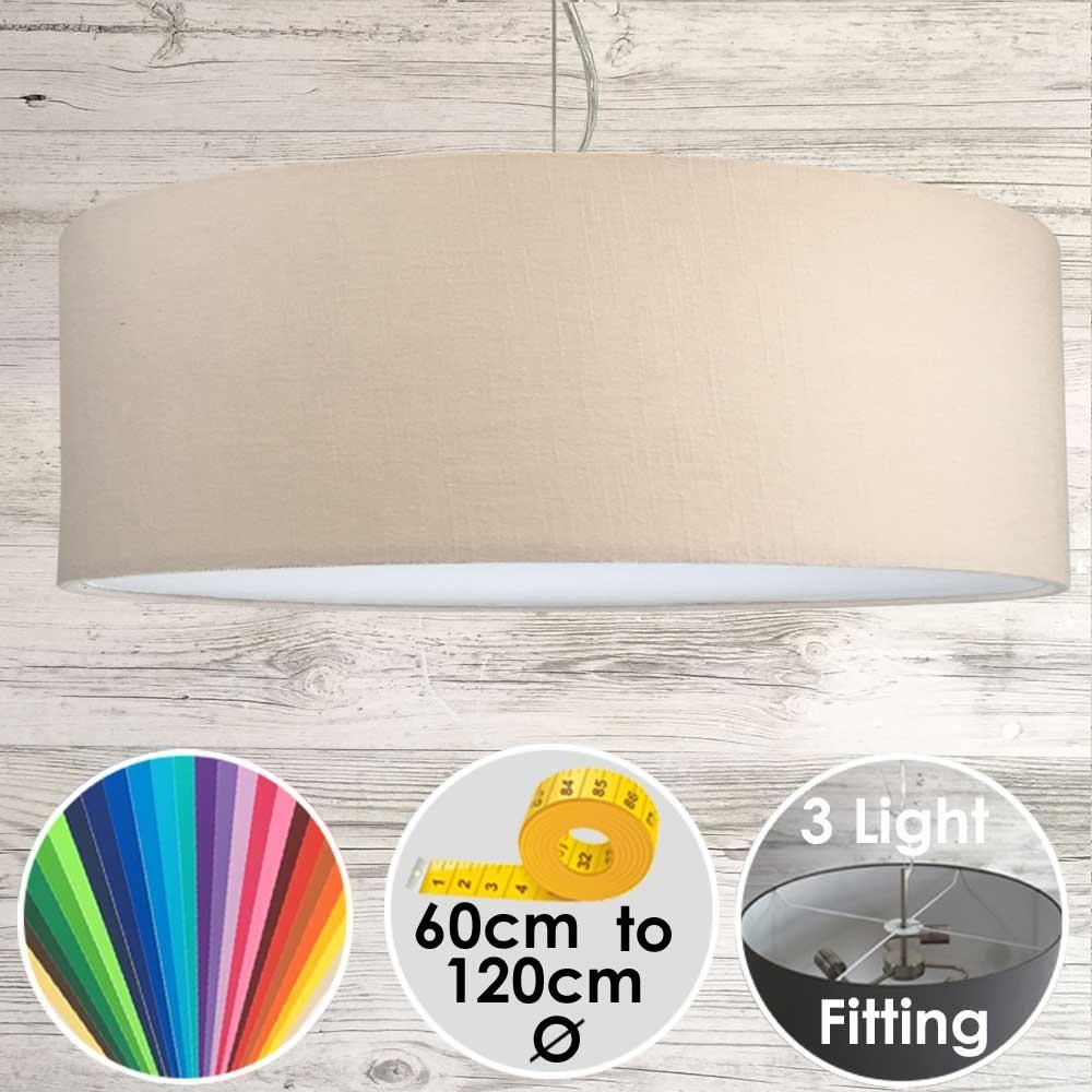 Cara XL Drum Ceiling Light Parchment
