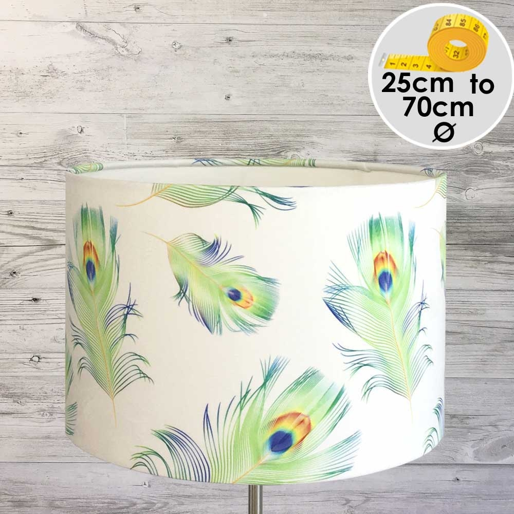 PEACOCK FEATHER LAMPSHADE