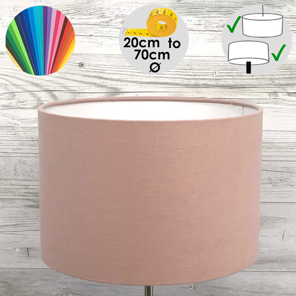 Aura Pink Drum Table Lamp Shade