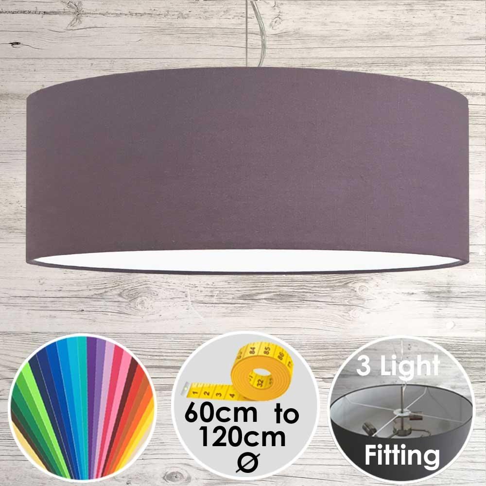 Cara XL Drum Ceiling Light Purple