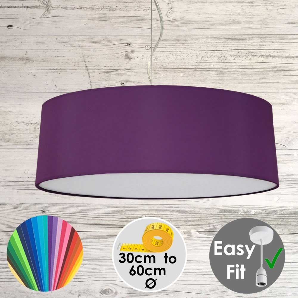 Purple Drum Light Shade