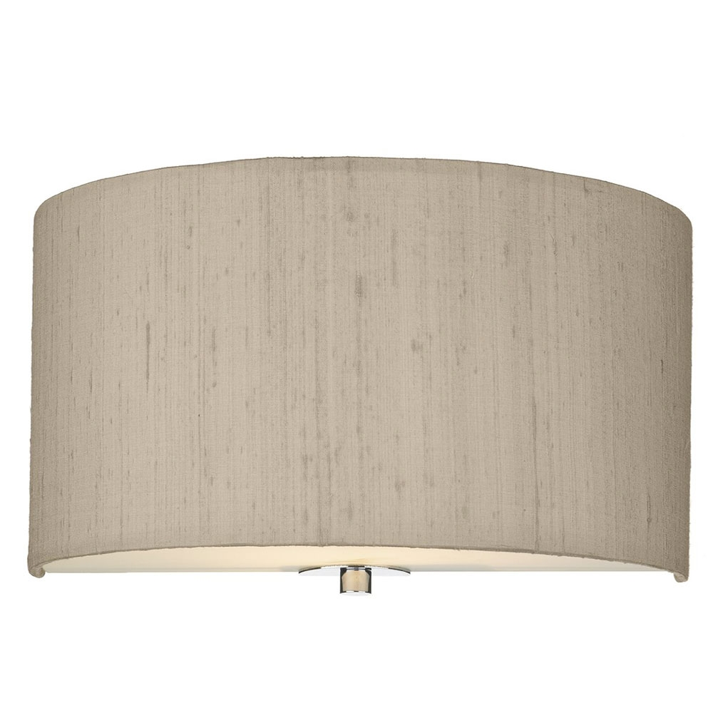 Dupion silk wall shade Taupe