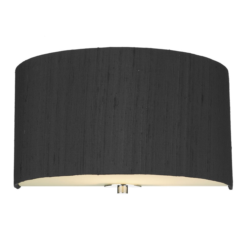 Dupion Silk Wall Shade Black