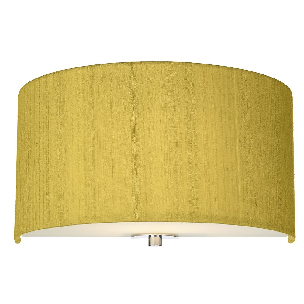 Dupion silk wall shade citron