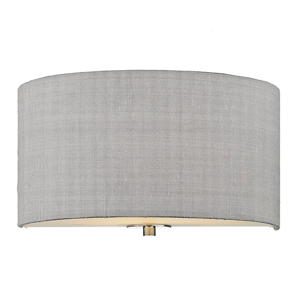 Dupion Silk Wall Shade Silver Grey