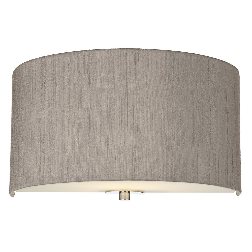 Dupion silk wall shade truffle