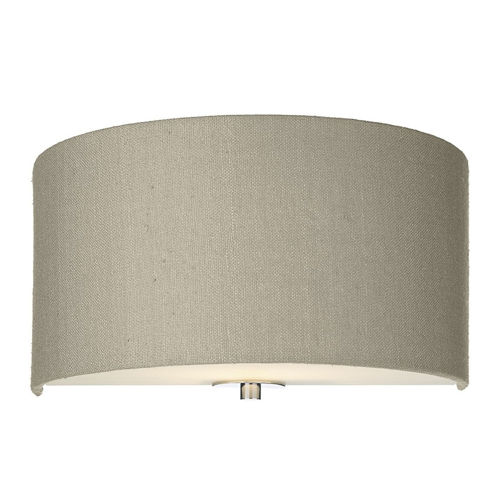 Dupion silk wall shade linen grey