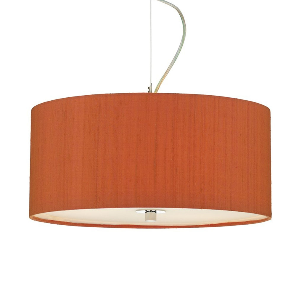 Dupion Silk Drum Shade Firefly