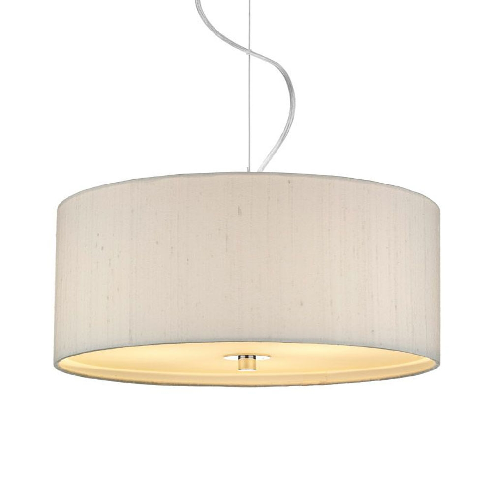 Dupion Silk Drum Shade Ivory