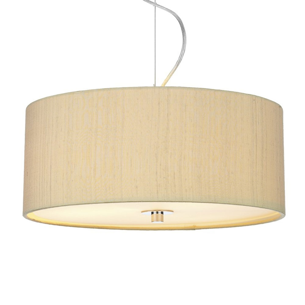 Dupion Silk Drum Shade Sea Mist Gold