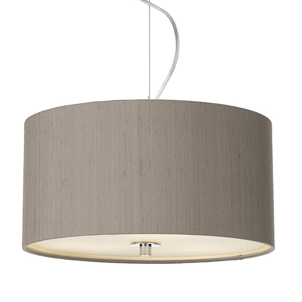 Dupion Silk Drum Shade Truffle