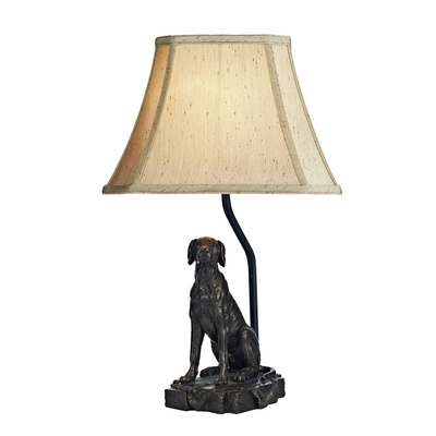 Bronze Dog Table Lampset