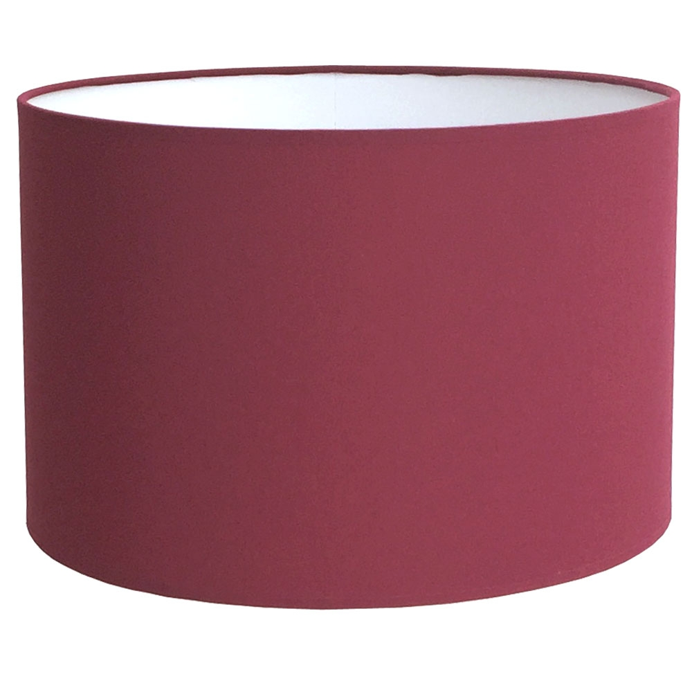 Drum Table Lampshade Ruby