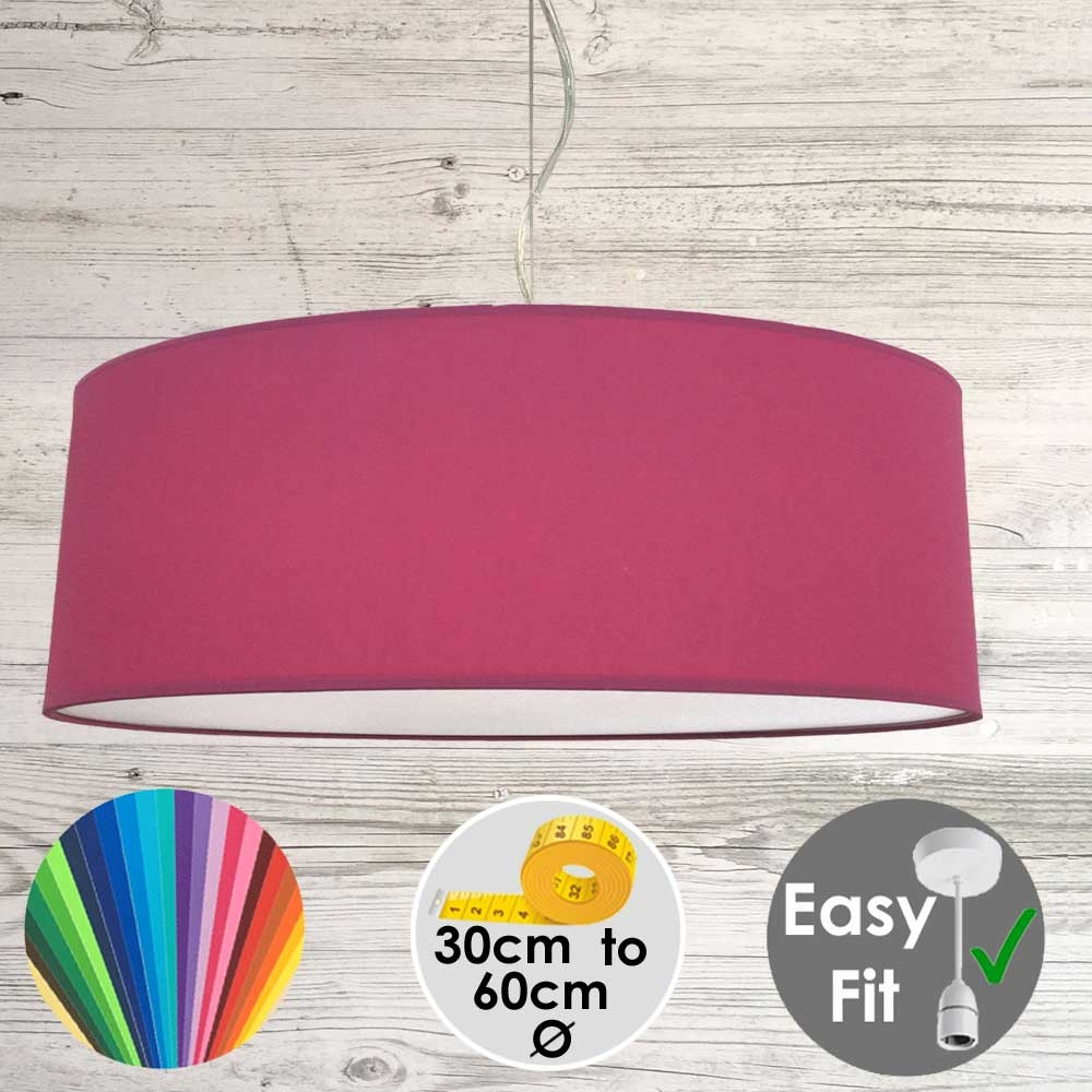 Raspberry Drum Light Shade