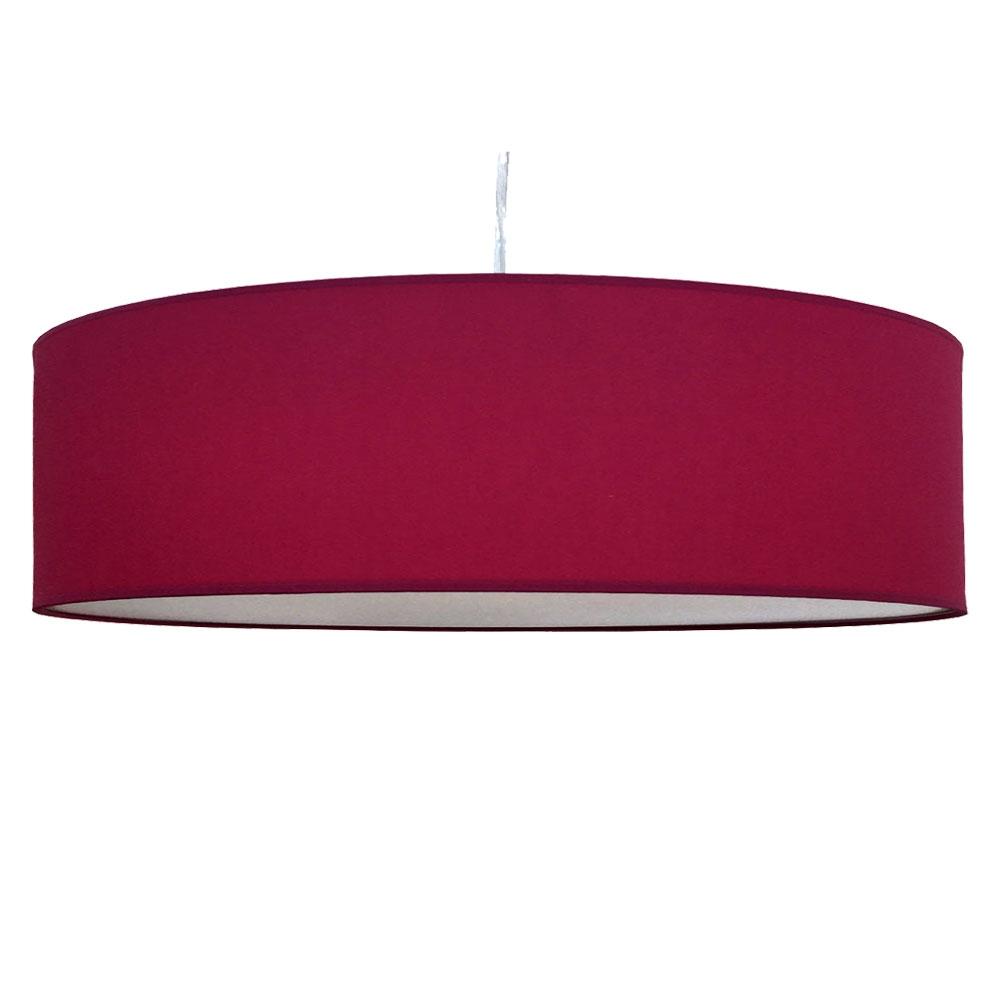 home modern lamp shades thin drum pendant shade in raspberry cotton