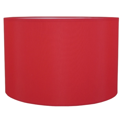 Drum Table Lampshade Red