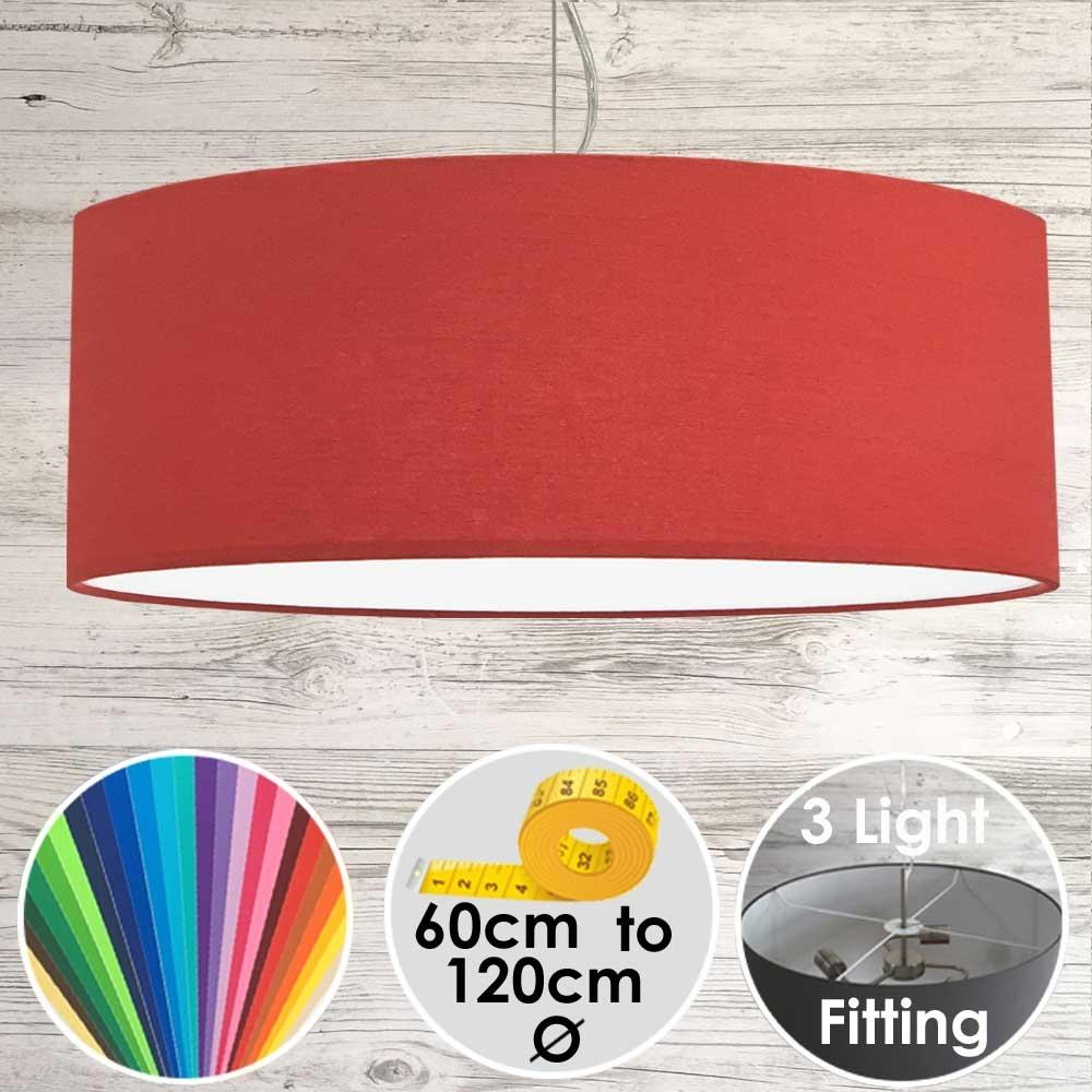 Cara XL Drum Ceiling Light Red