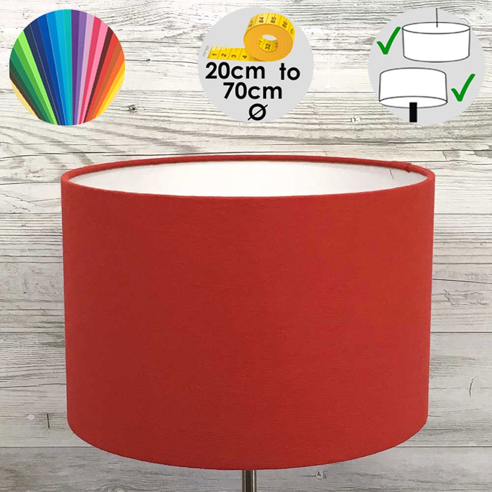 Aura Red Drum Table Lamp Shade