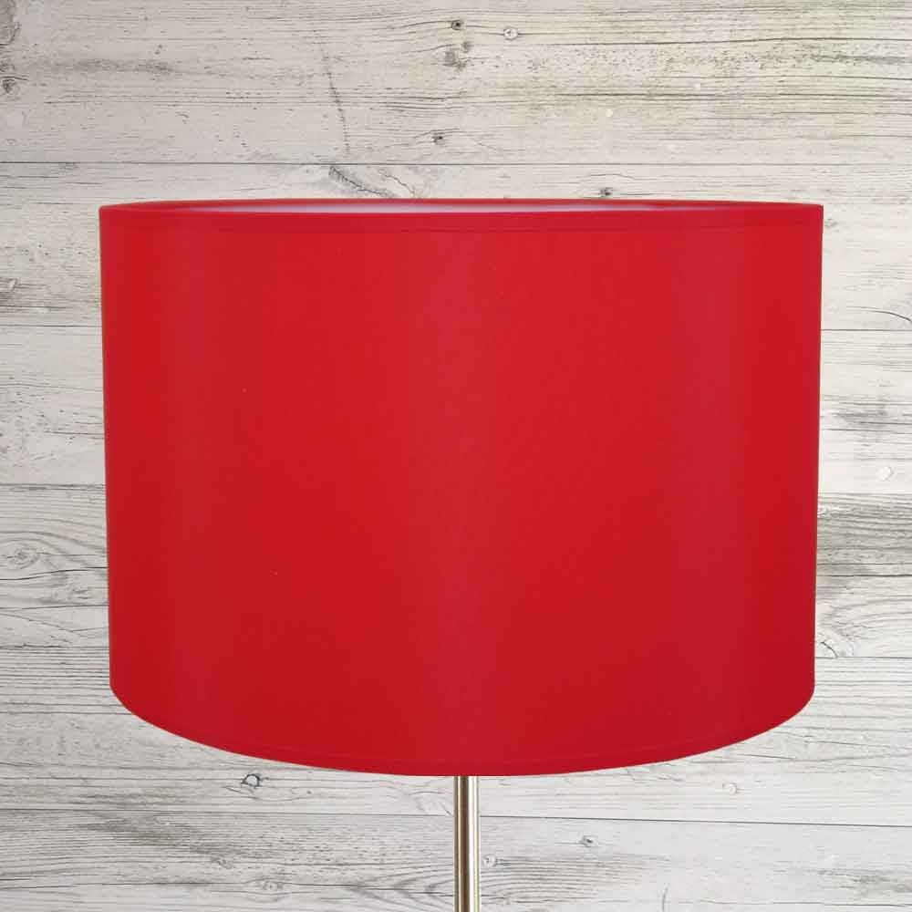 Drum Lampshade Red