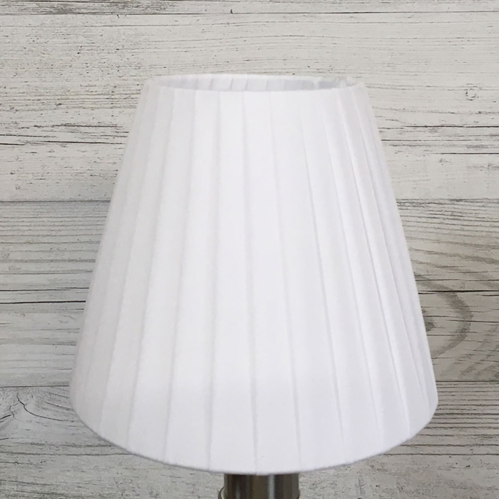 Ribbon Clip on Candle Shade White