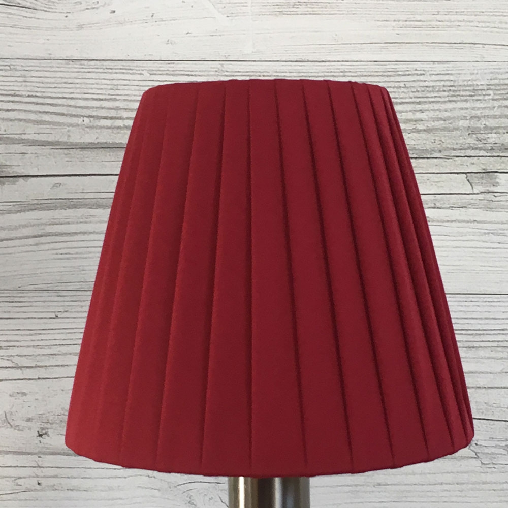 Ribbon Clip on Candle Shade Red