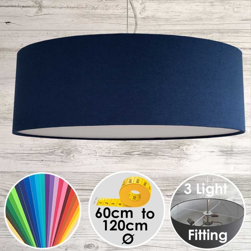 Cara XL Drum Ceiling Light Royal Blue