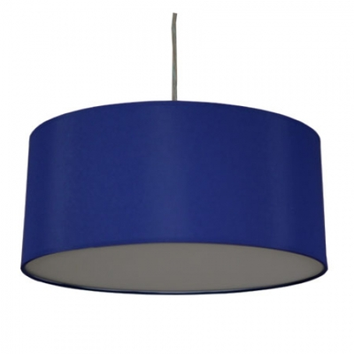 Drum Pendant Shade In Royal Blue Cotton Imperial Lighting