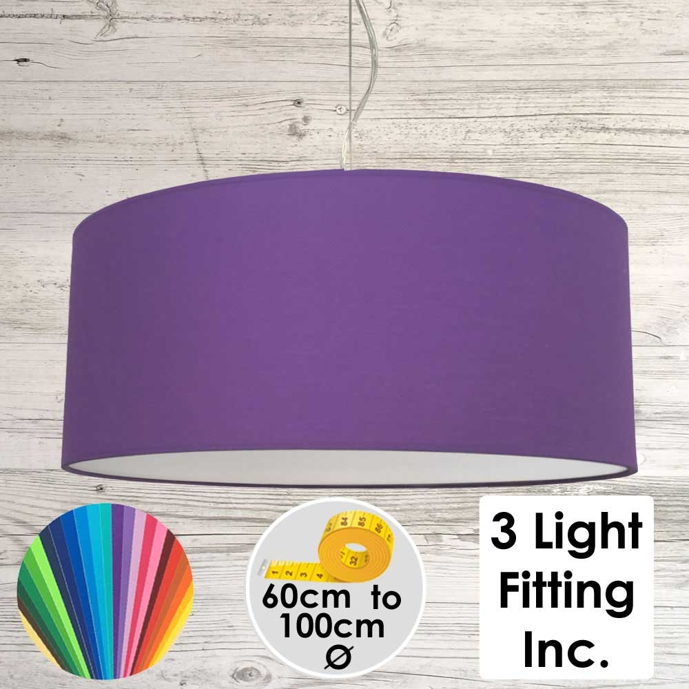 Royal Purple Drum Ceiling Light