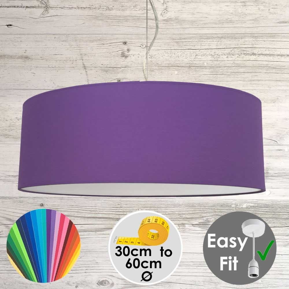 Royal Purple Drum Light Shade
