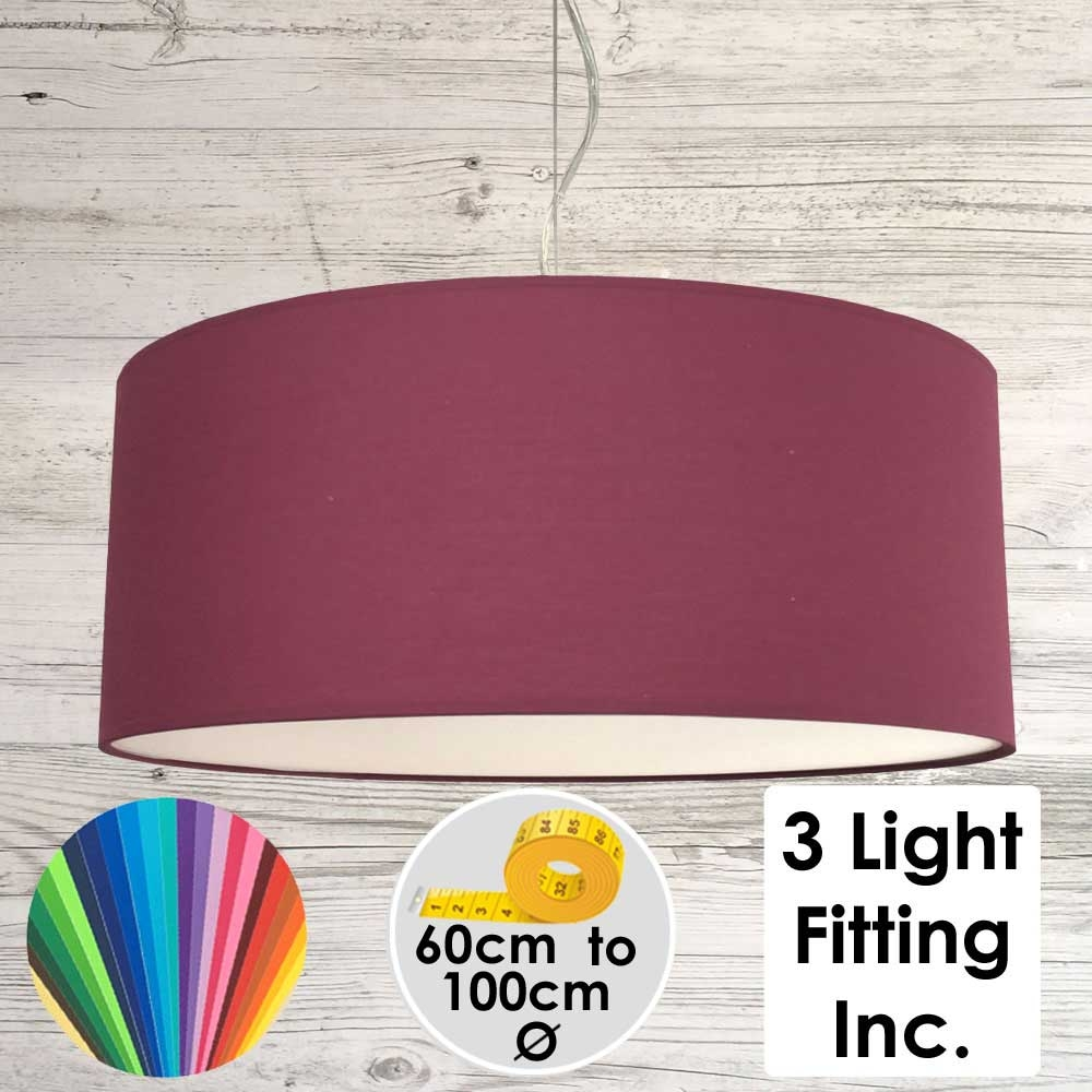 Ruby Drum Ceiling Light