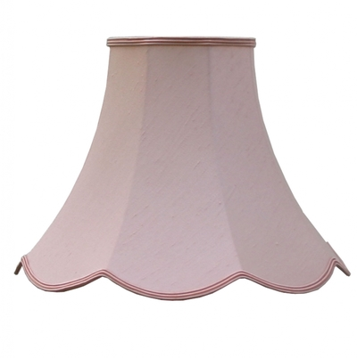 Scalloped Bowed Empire Blush Dupion