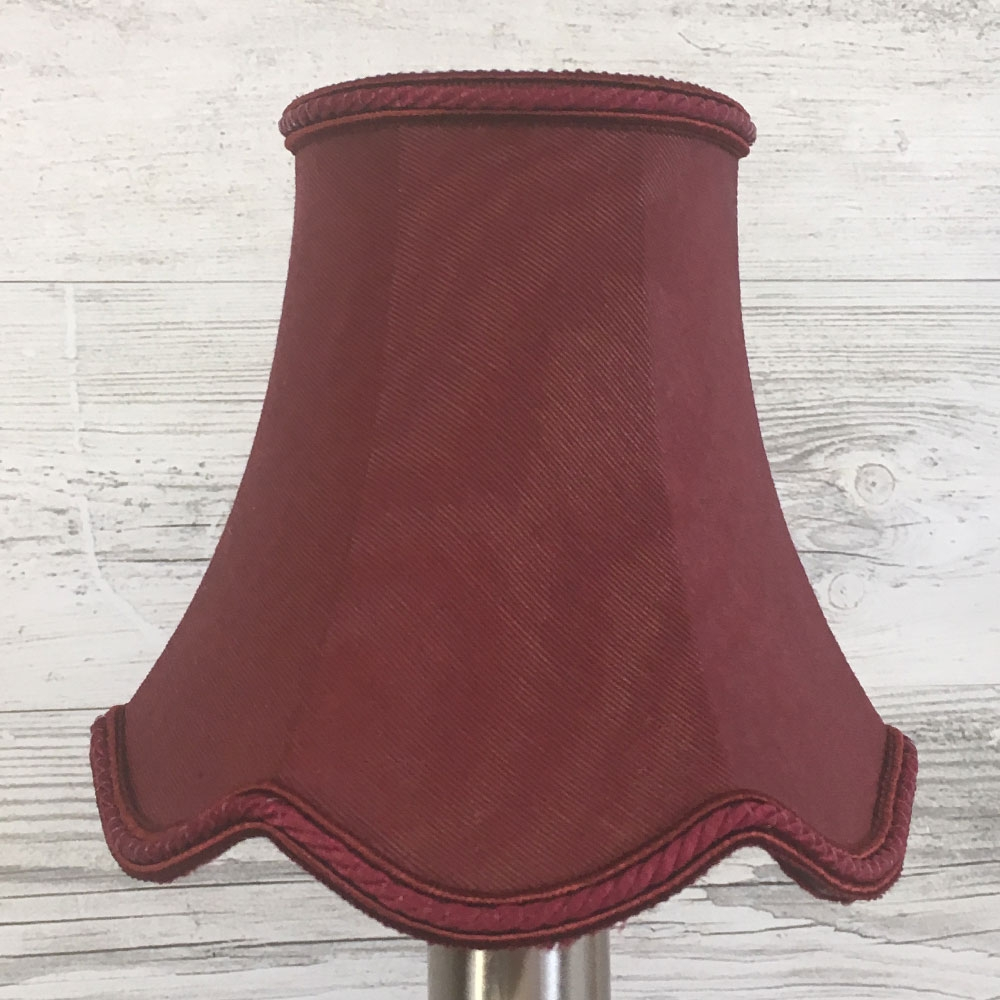 Scalloped Bowed Candle Burgundy