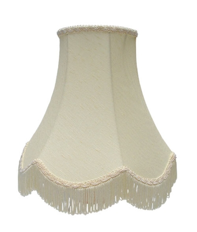scalloped bowed empire candle