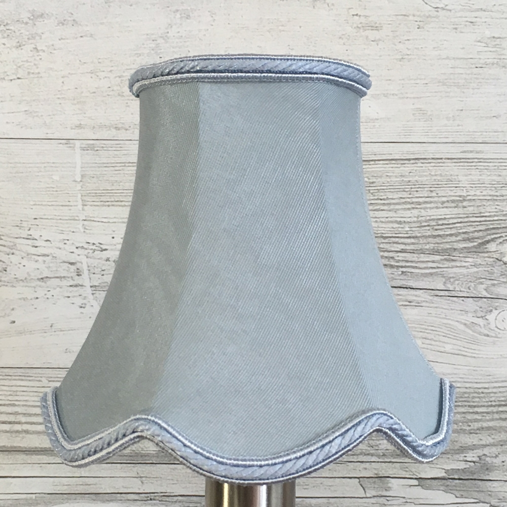 Scalloped Bowed Candle Pale Blue