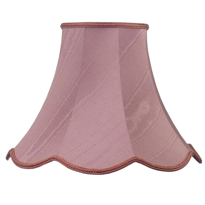 Scalloped bowed empire lampshade pink moire