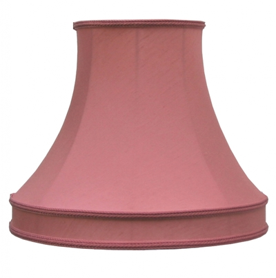 Skirted Bowed Empire Lampshade Rose Dupion