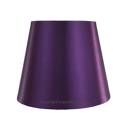 Silk-Effect Candle shade Plum