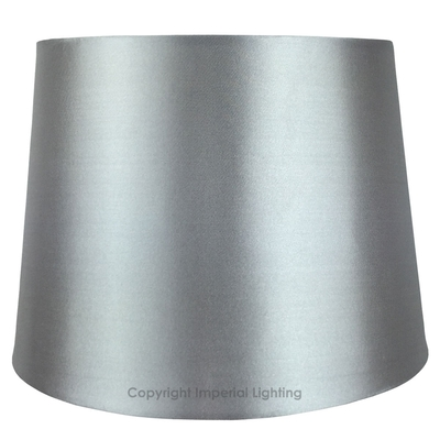 Silk-Effect Table Lampshade Silver