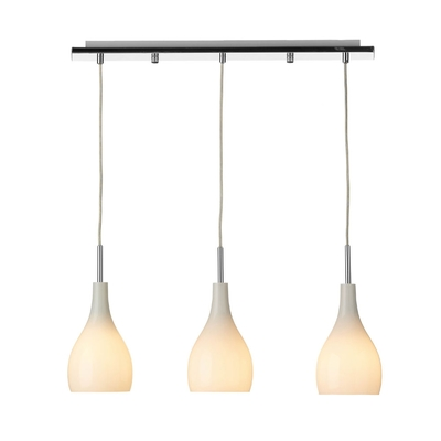 Soho White 3 Light Pendant