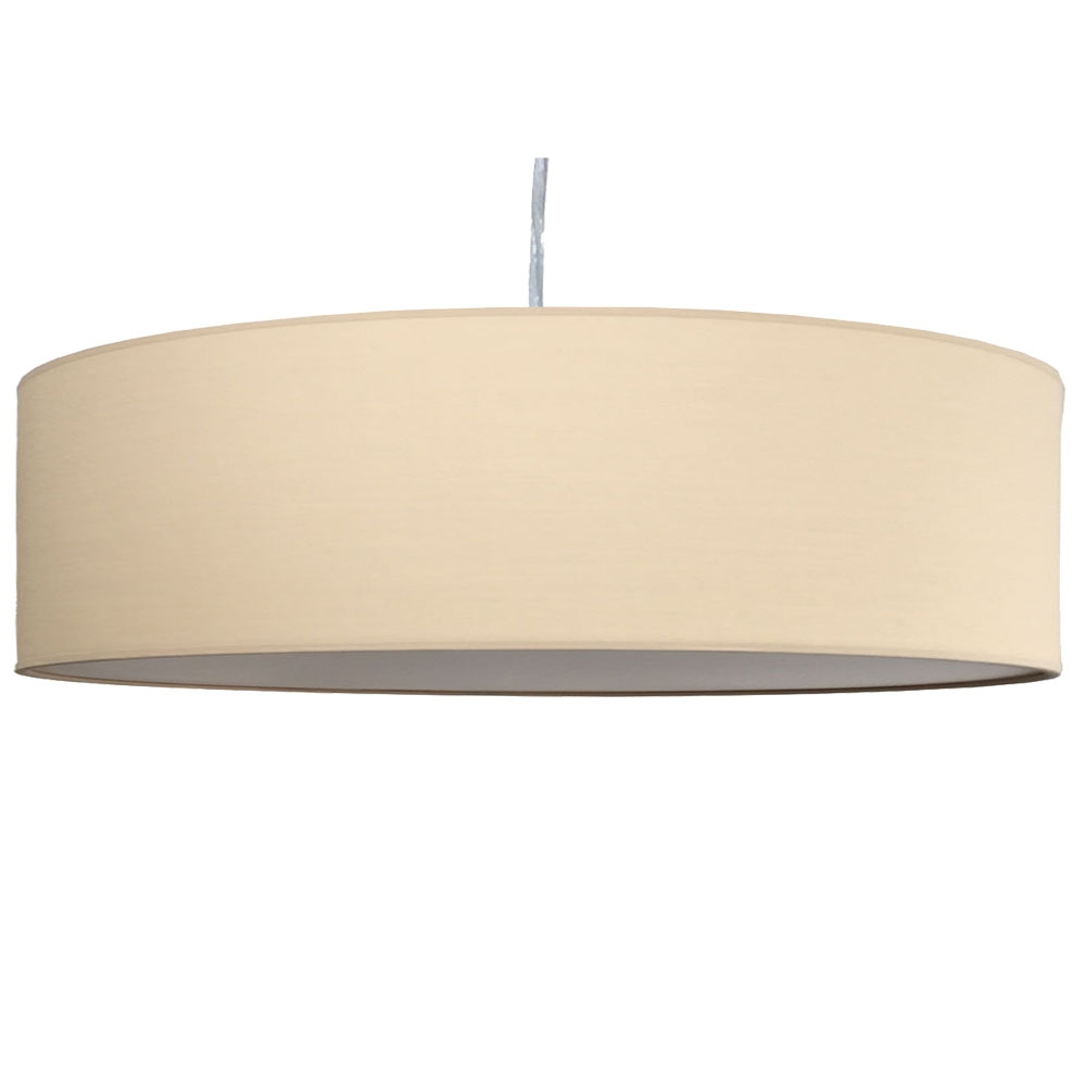 home modern lamp shades thin drum pendant shade in sand cotton. Black Bedroom Furniture Sets. Home Design Ideas