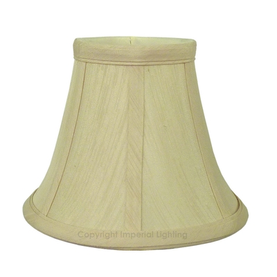 Silk-Effect Bell Candle Shade Cream