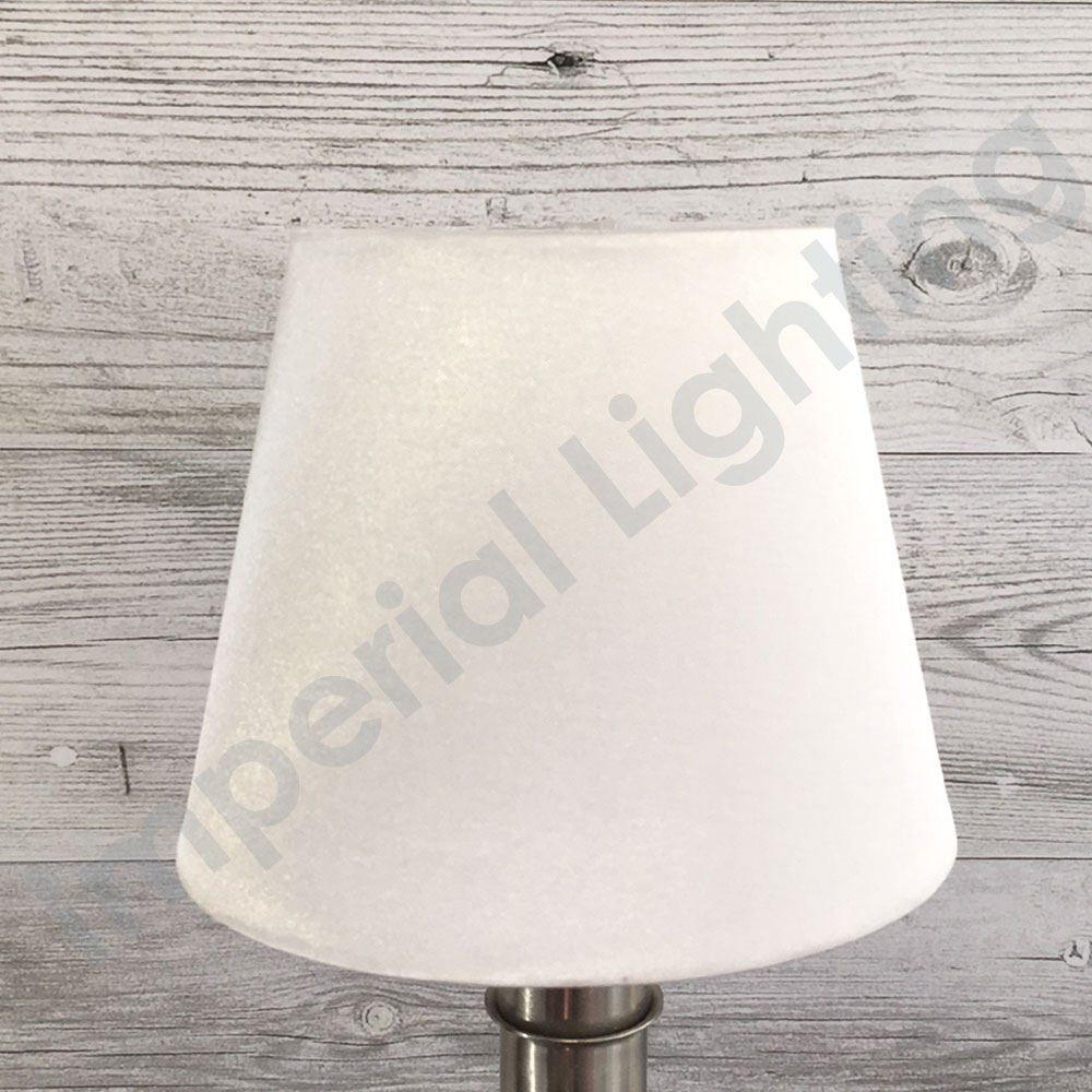 Silk-Effect Candle shade Brilliant White