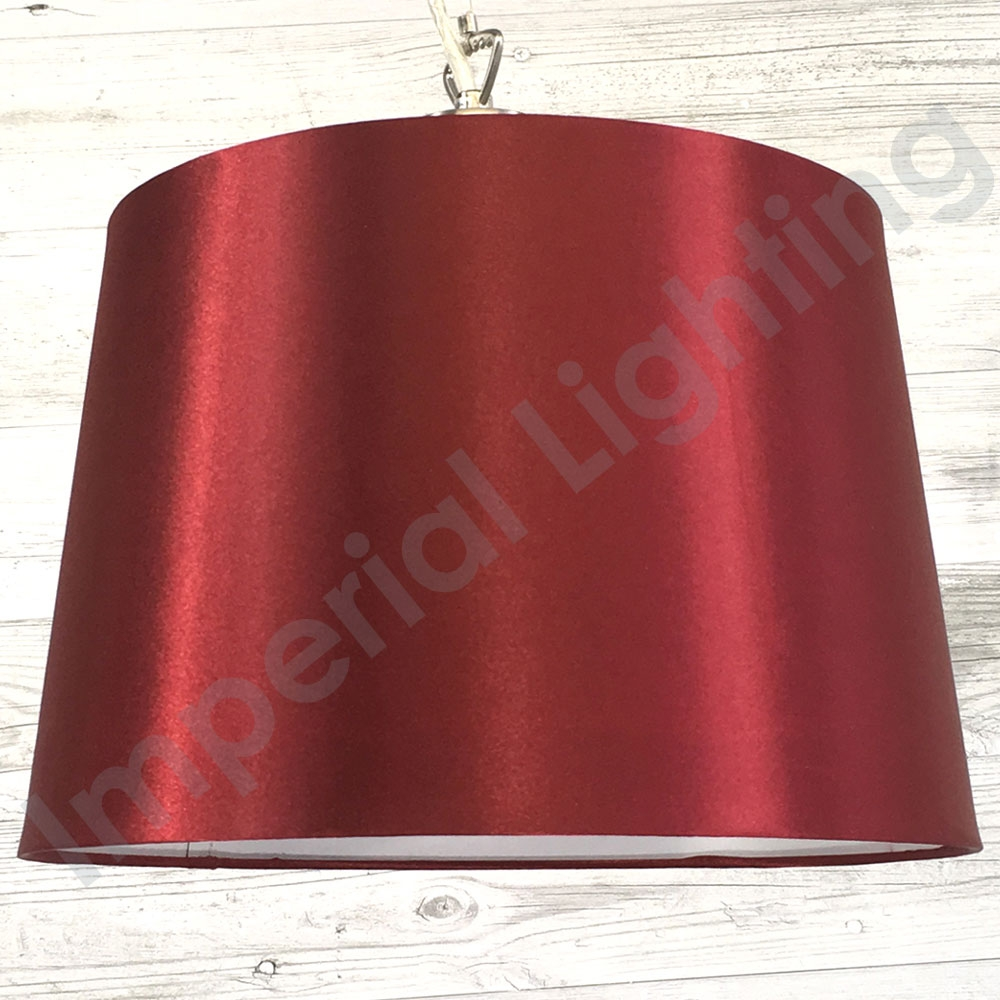 Silk Effect Pendant Shade Cranberry Imperial Lighting