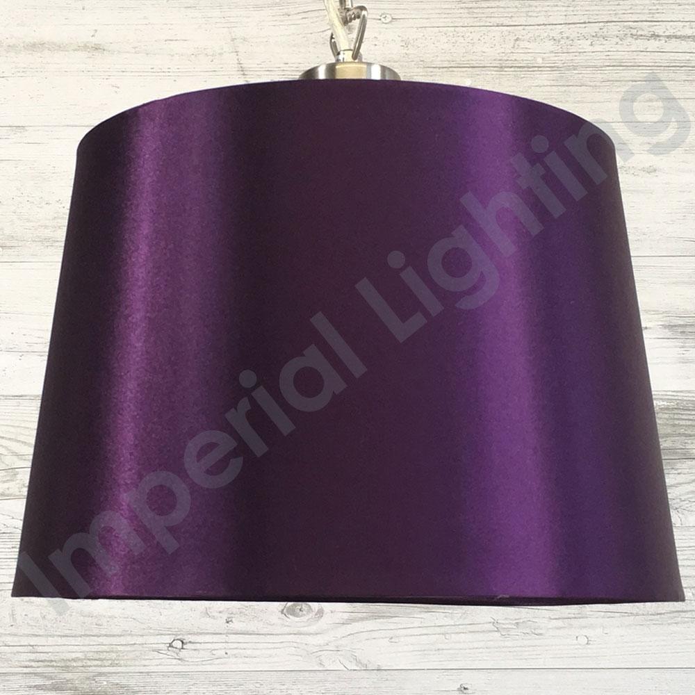 Silk Effect Pendant Shade Plum Imperial Lighting