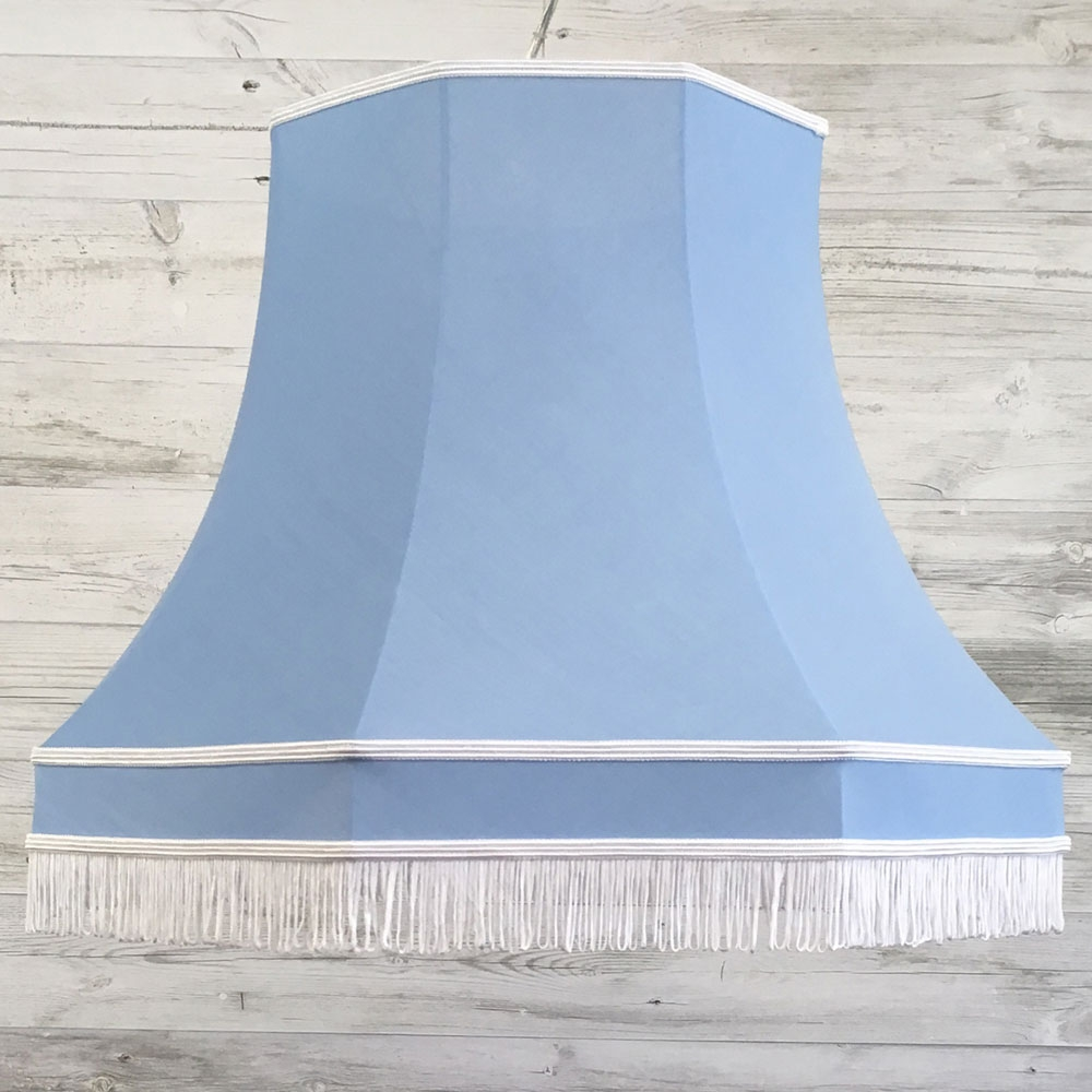 Retro Lampshade Blue Cotton