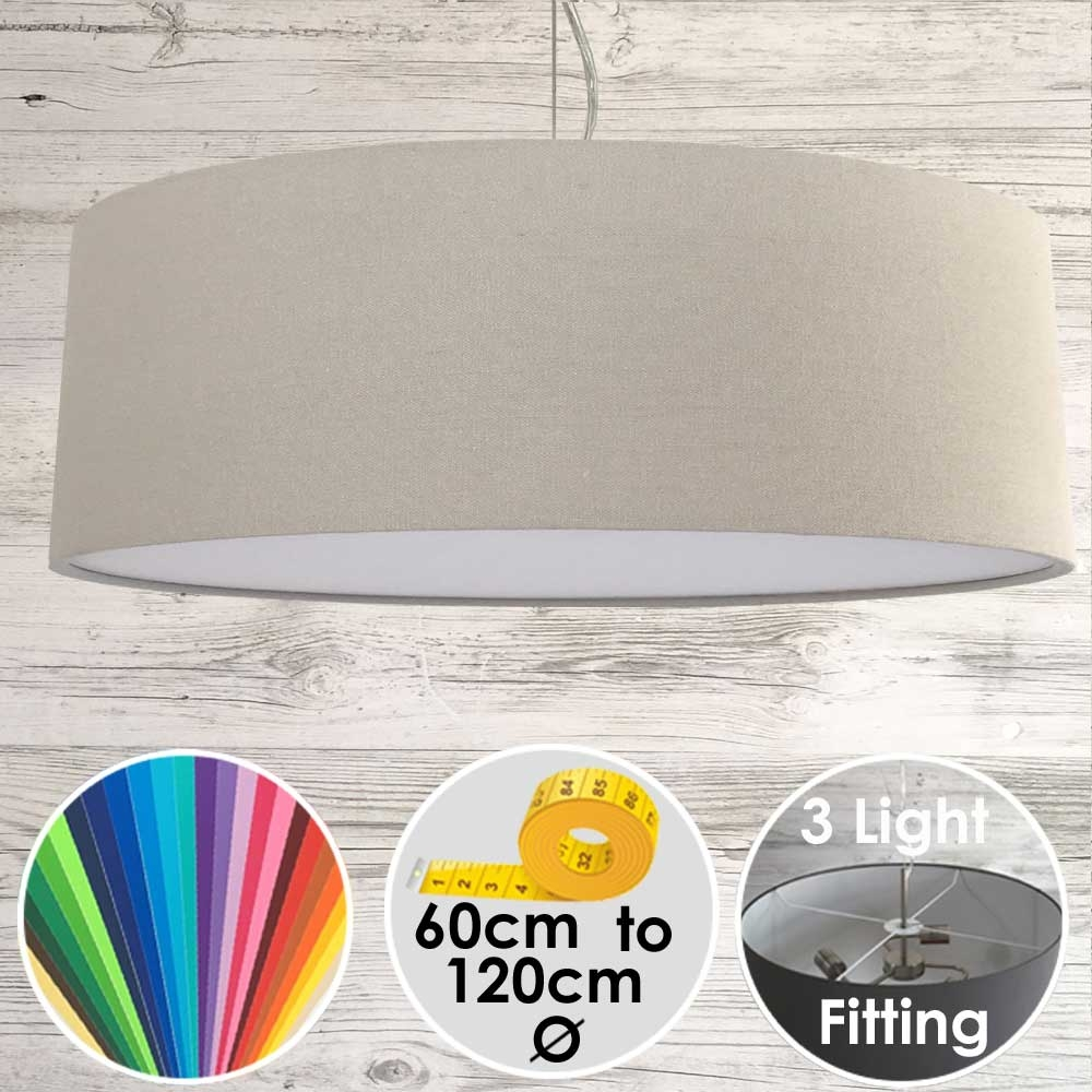 Cara XL Drum Ceiling Light Stone