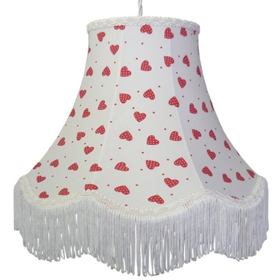 Floral Print Lampshade Strawberry Heart
