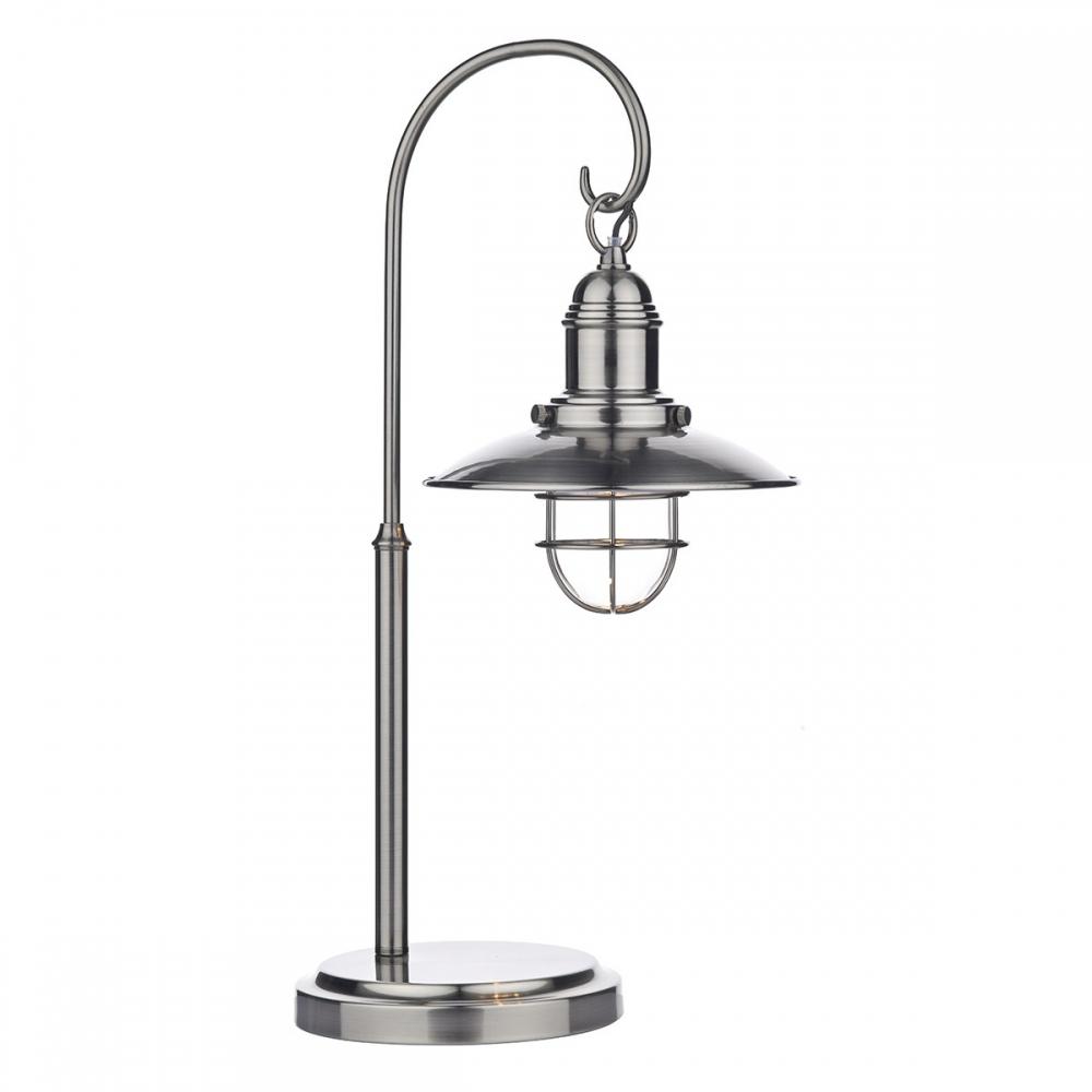 Terrace antique chrome table lamp